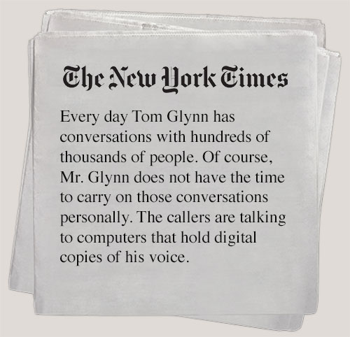 The New York Times voice over Tom Glynn